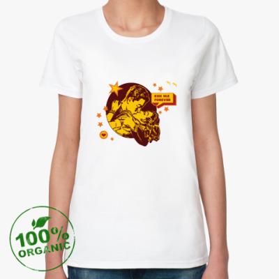 Женская футболка из органик-хлопка Kiss Me Forever