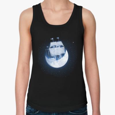 Женская майка Лунный кораблик