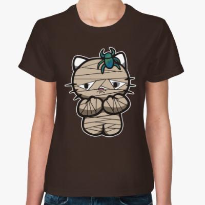 Женская футболка Китти Мумия