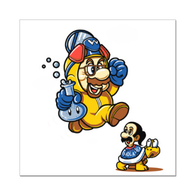 Наклейка (стикер) Mario Heisenberg