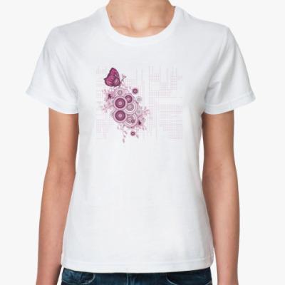 Классическая футболка  Digital Pink Spring