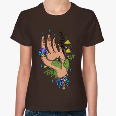 Женская футболка Crystal Hand