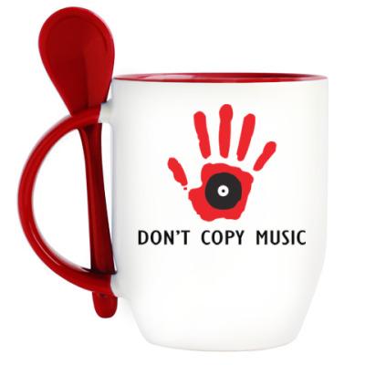 Кружка с ложкой Dont Copy Music