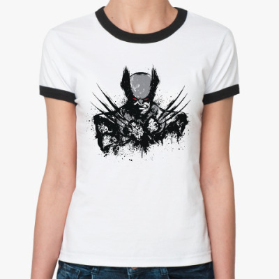 Женская футболка Ringer-T Росомаха
