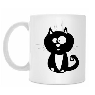 Кружка Удивленный кот