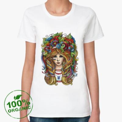 Женская футболка из органик-хлопка Украинка