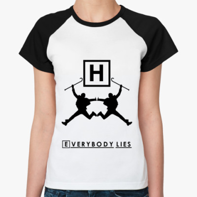 Женская футболка реглан Everybody lies