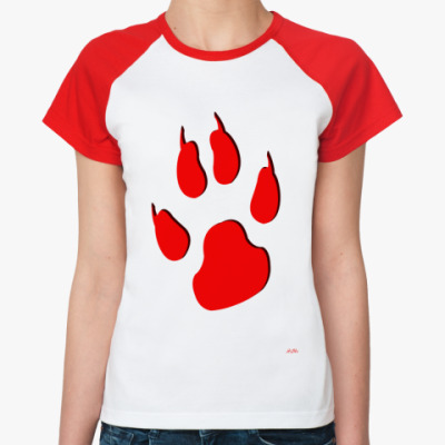 Женская футболка реглан Лапа