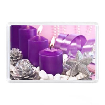 Магнит Новогодние свечи