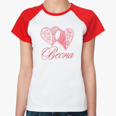 Женская футболка реглан Весна