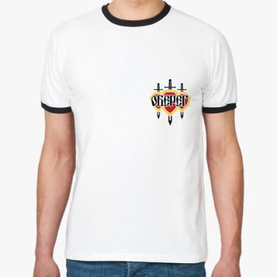 Футболка Ringer-T Ringer муж/бел-чёр