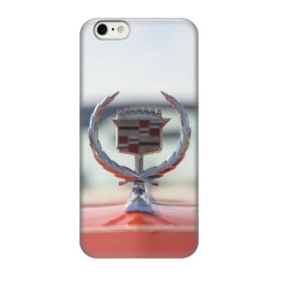 Чехол для iPhone 6/6s Cadillac на капоте. Ретро лого