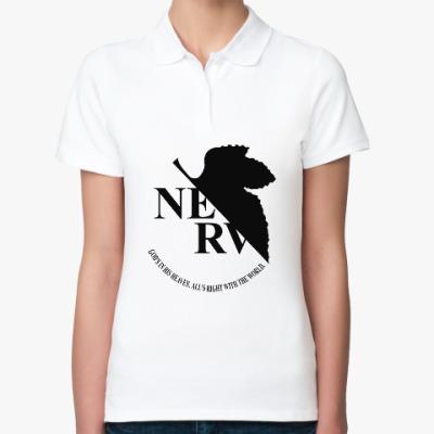 Женская рубашка поло Neon Genesis Evangelion NERV