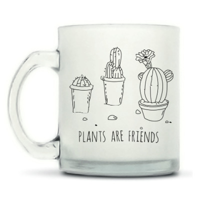 Кружка матовая Plants are friends