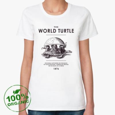 Женская футболка из органик-хлопка  World Turtle