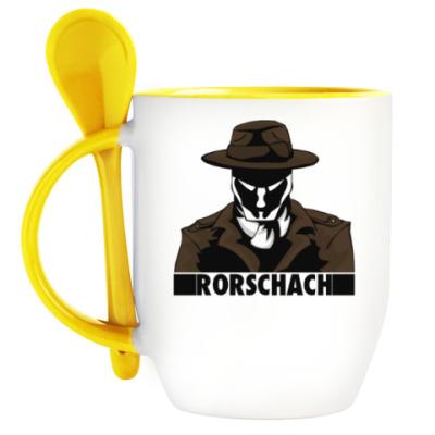 Кружка с ложкой Rorschach