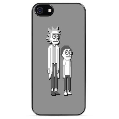 Чехол для iPhone Пиксельные Рик и Морти