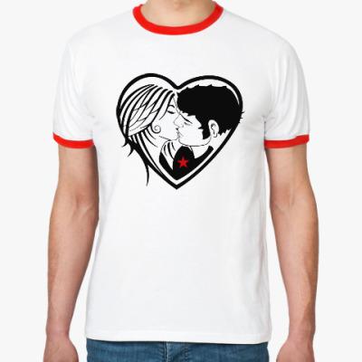 Футболка Ringer-T Kiss Forever
