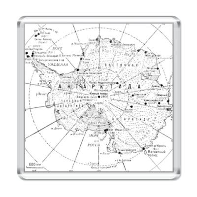 Магнит  Карта Антарктиды