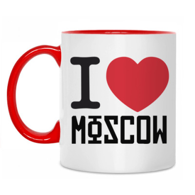 Кружка Я люблю Москву