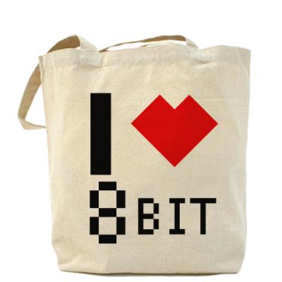 Сумка I heart 8-bit Холщовая сумка