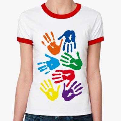 Женская футболка Ringer-T Руки
