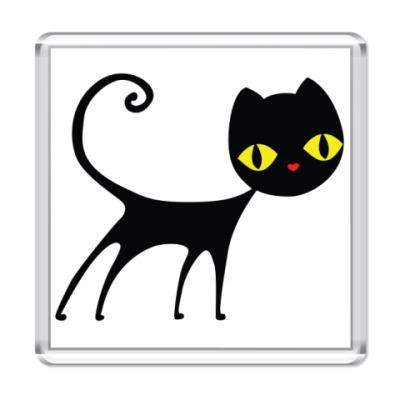 Магнит   Черный кот