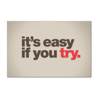 Наклейка (стикер)  Easy If You Try