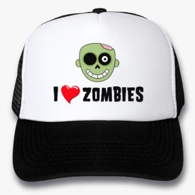 Кепка-тракер I love zombies