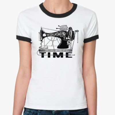 Женская футболка Ringer-T Спицы-иглы