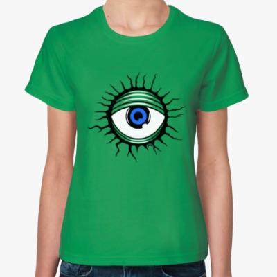 Женская футболка Демонический глаз.