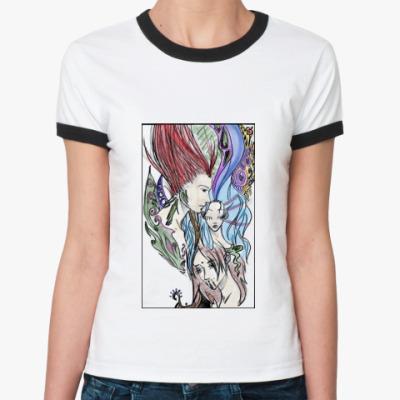 Женская футболка Ringer-T аниме