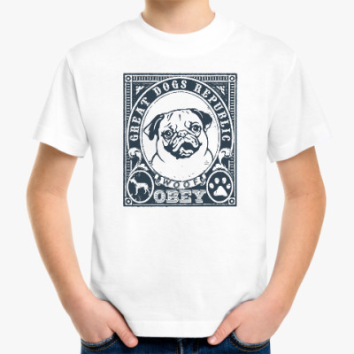 Детская футболка Подчиняйся собаке! Подчинись!