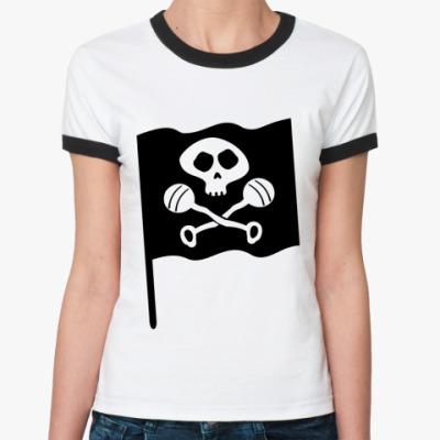 Женская футболка Ringer-T Черепок