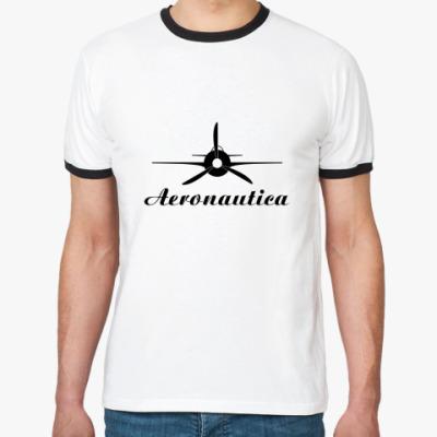 Футболка Ringer-T  'Aeronautica'