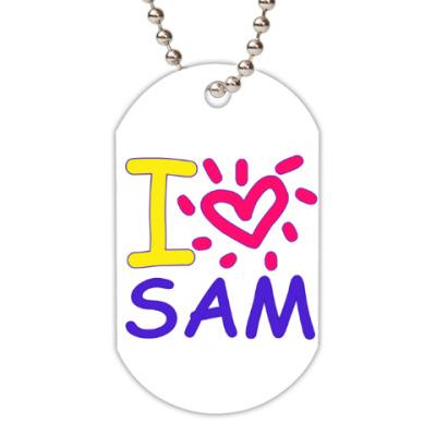 Жетон dog-tag Supernatural - I love Sam
