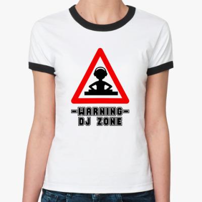 Женская футболка Ringer-T DJ ZONE