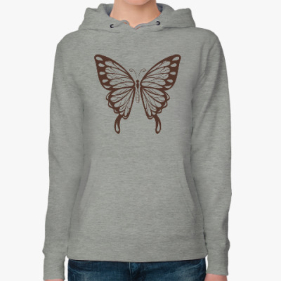 Женская толстовка худи Бабочка Butterfly