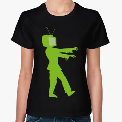Женская футболка Зомби ТВ