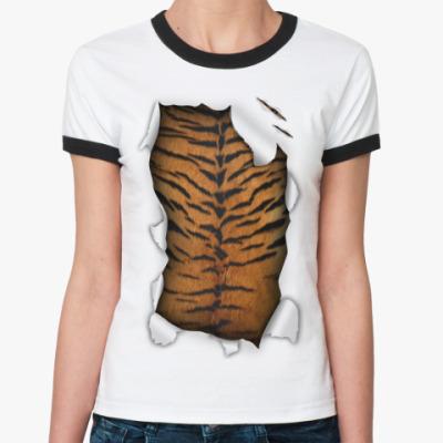Женская футболка Ringer-T Тигр