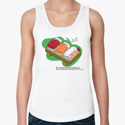 Женская майка  Sushi
