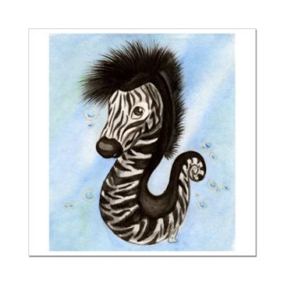 Наклейка (стикер) Морской зебрёнок