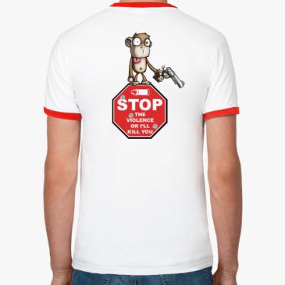 Футболка Ringer-T Stop the Violence