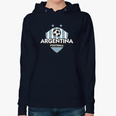 Женская толстовка худи Футбол Аргентины