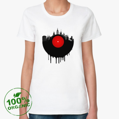 Женская футболка из органик-хлопка Винил