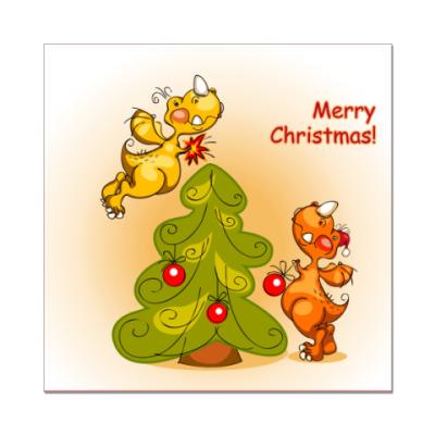 Наклейка (стикер) С Рождеством !