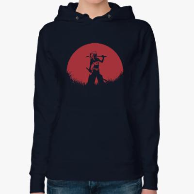 Женская толстовка худи Аниме самурай