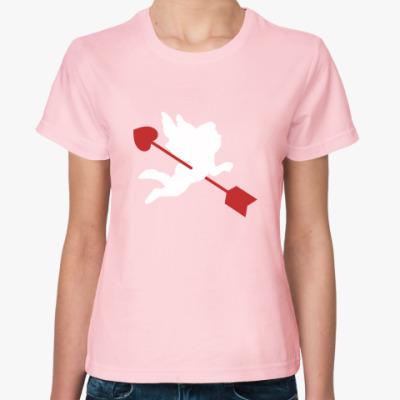 Женская футболка Амур