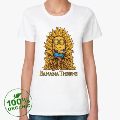 Женская футболка из органик-хлопка Banana Throne