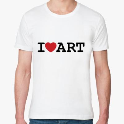 Футболка из органик-хлопка I Love Art
